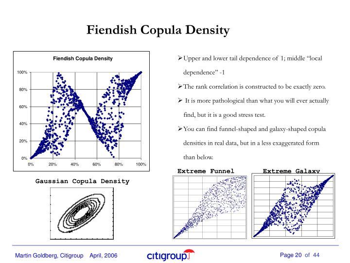 Fiendish Copula Density