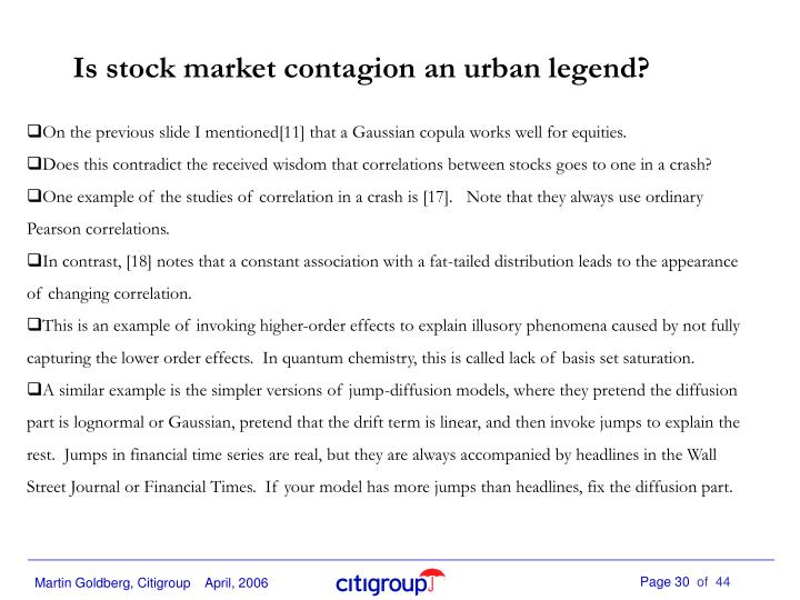 Is stock market contagion an urban legend?