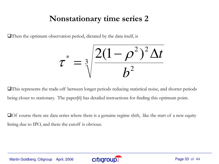 Nonstationary time series 2