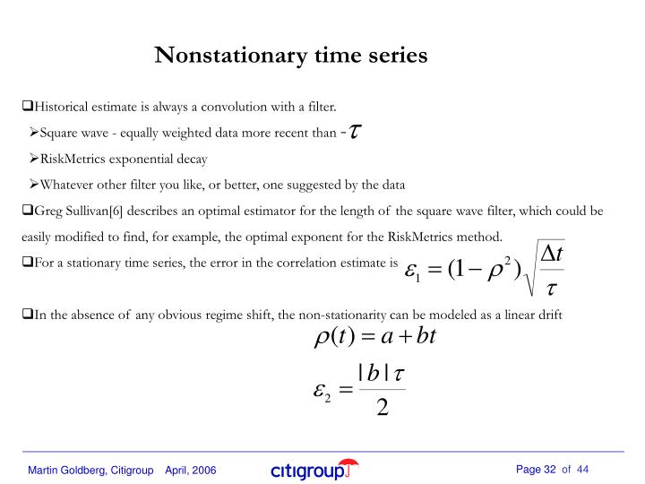 Nonstationary time series