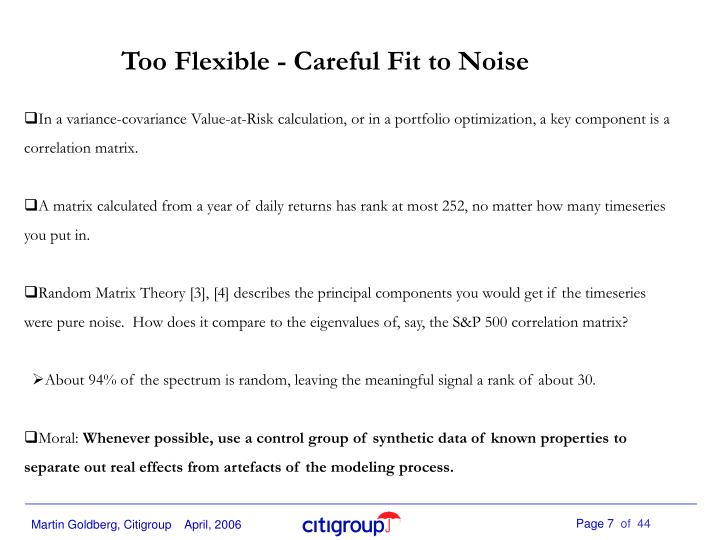 Too Flexible - Careful Fit to Noise