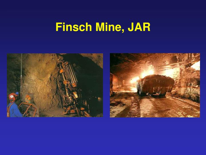 Finsch Mine, JAR
