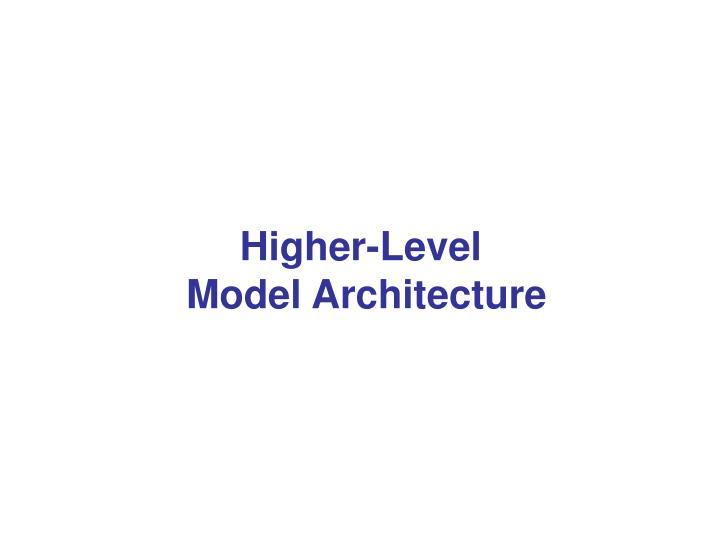 Higher-Level