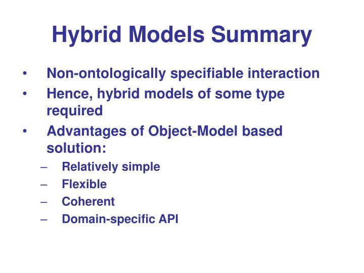 Hybrid Models Summary
