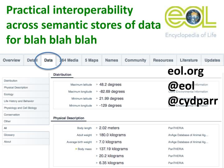 Practical interoperability across semantic stores of data for blah blah blah