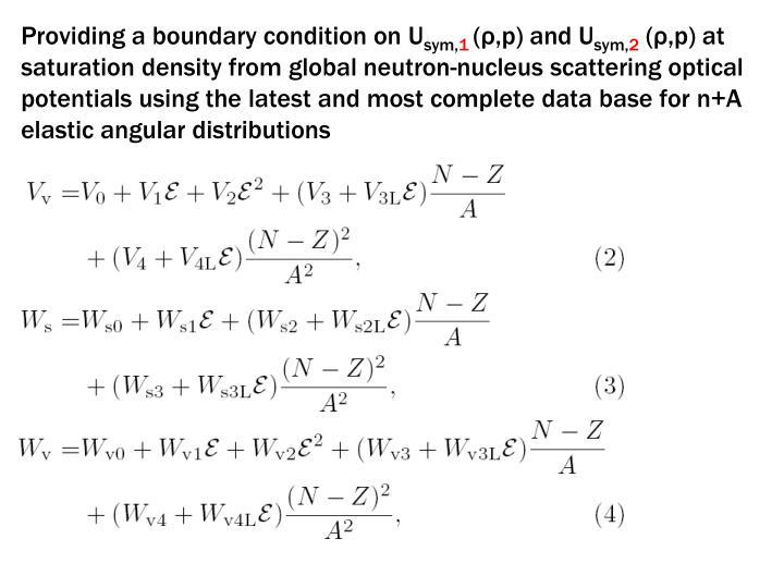 Providing a boundary condition on U