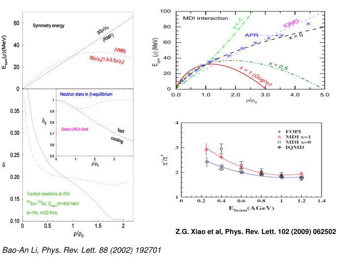 Z.G. Xiao et al, Phys. Rev. Lett. 102 (2009) 062502