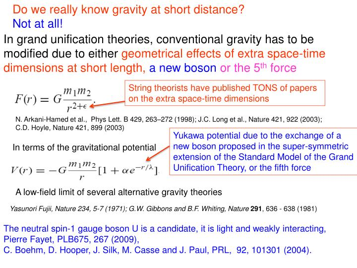 Do we really know gravity at short distance?