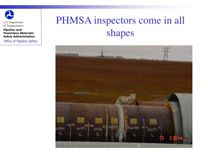 PHMSA inspectors come in all shapes