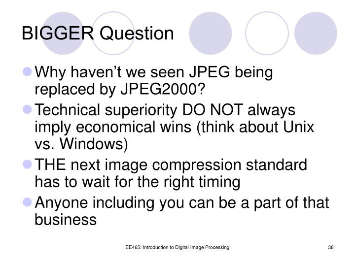 BIGGER Question
