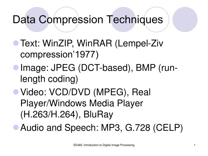 Data Compression Techniques