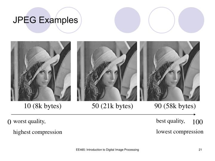JPEG Examples
