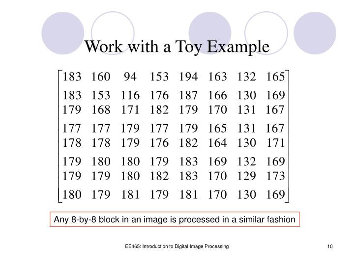 Work with a Toy Example