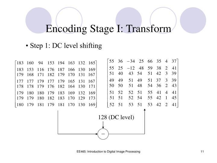 Encoding Stage I: Transform