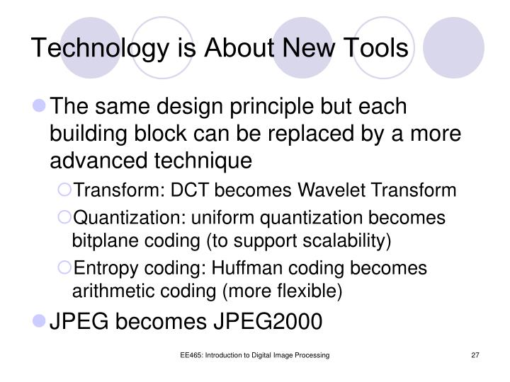 Technology is About New Tools