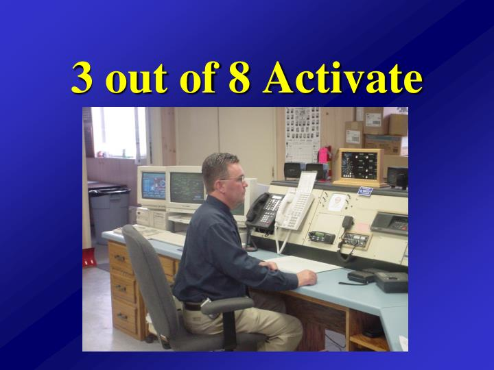3 out of 8 activate