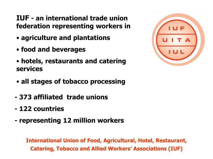 political affiliation of trade union