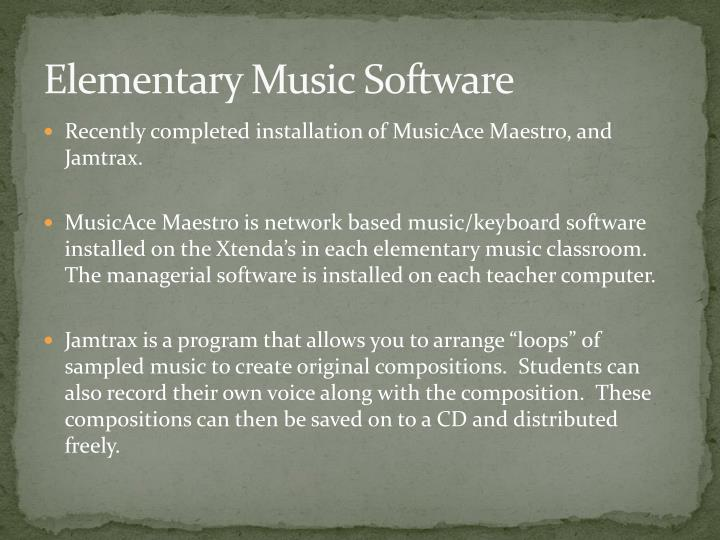 Elementary Music Software
