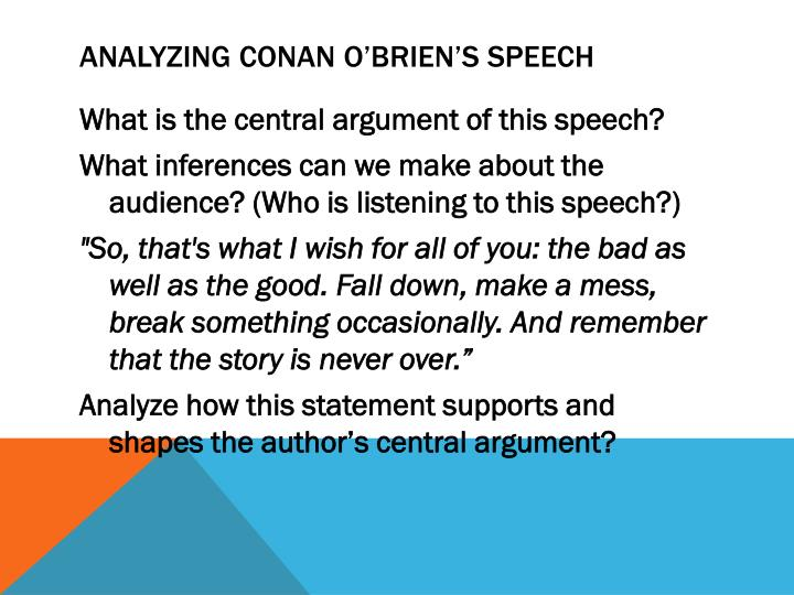Analyzing Conan O'Brien's Speech