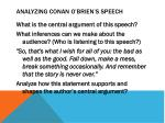 analyzing conan o brien s speech