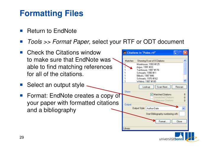 Formatting Files
