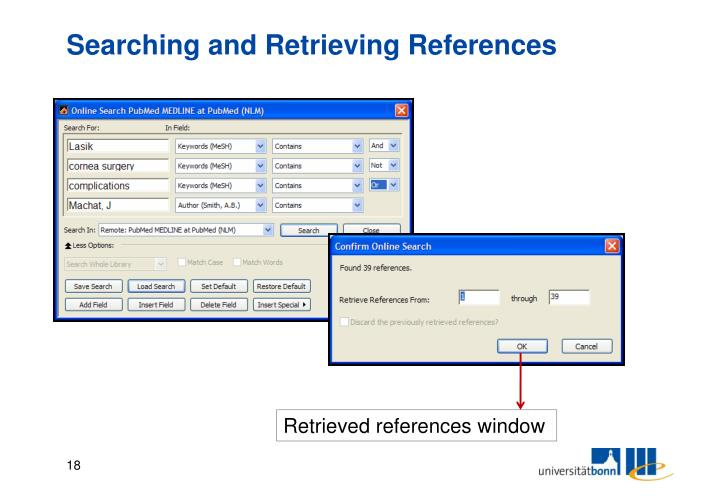 Searching and Retrieving References