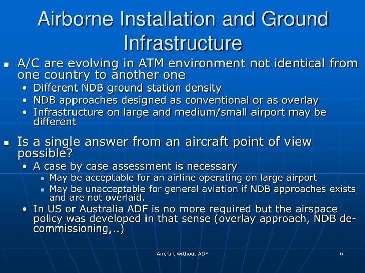 Airborne Installation and Ground Infrastructure