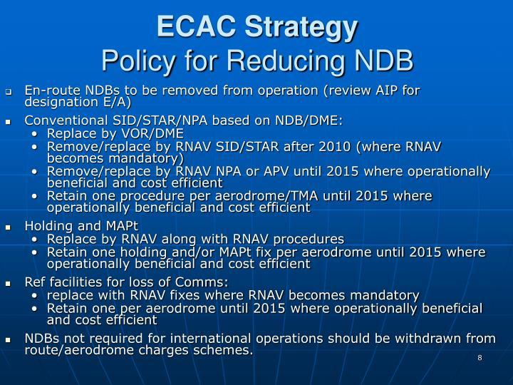 ECAC Strategy