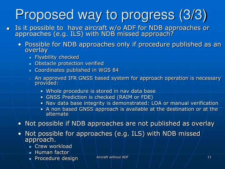 Proposed way to progress (3/3)