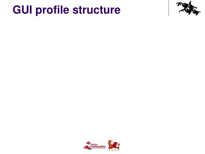GUI profile structure