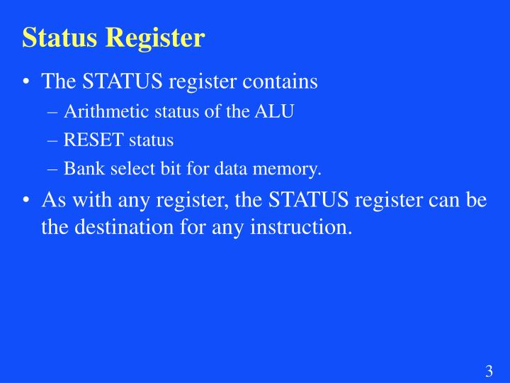 Status Register