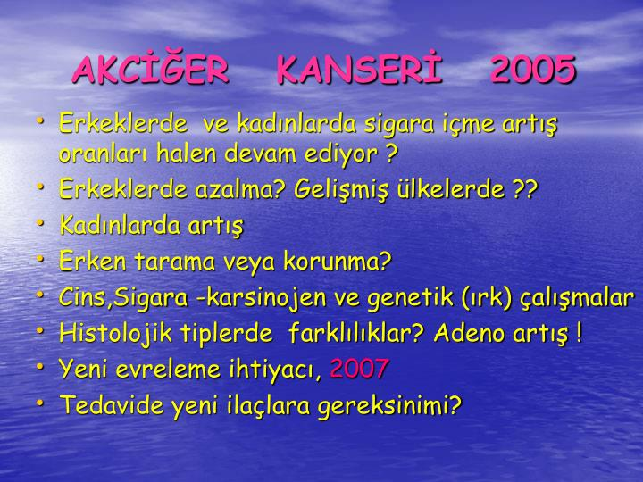 AKCER   KANSER   2005