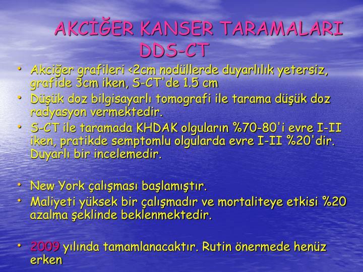 AKCER KANSER TARAMALARI