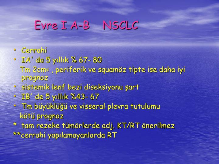 Evre I A-B    NSCLC