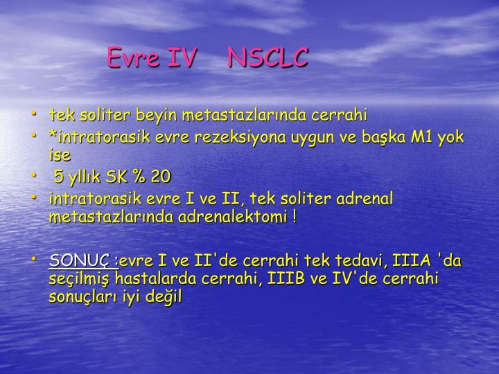 Evre IV    NSCLC