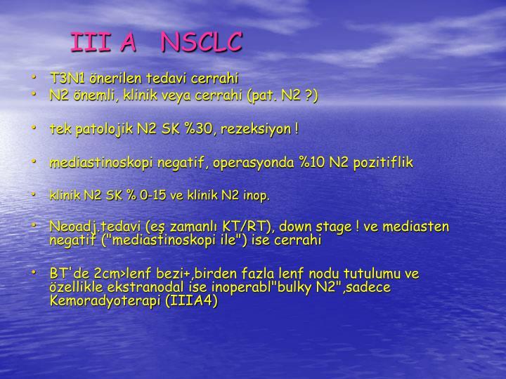 III A   NSCLC