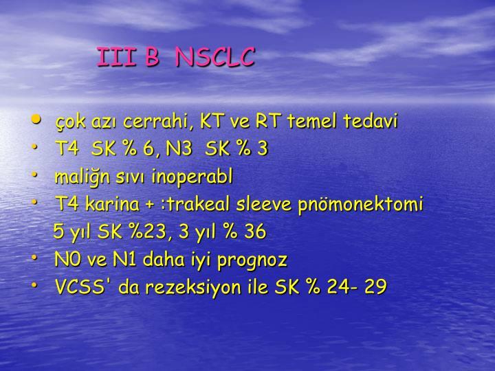 III B  NSCLC