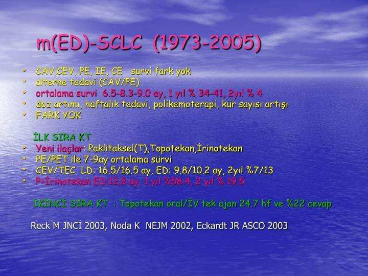 m(ED)-SCLC  (1973-2005)