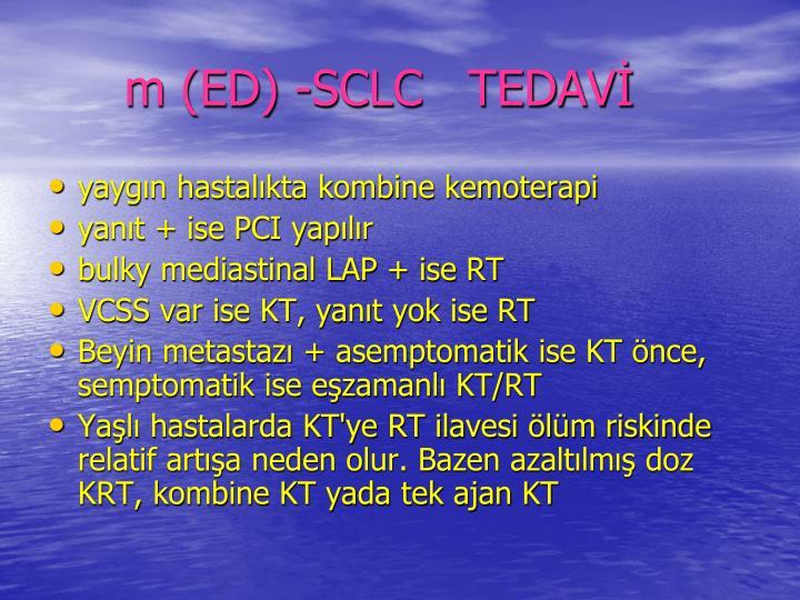 m (ED) -SCLC   TEDAV
