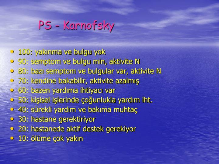 PS - Karnofsky