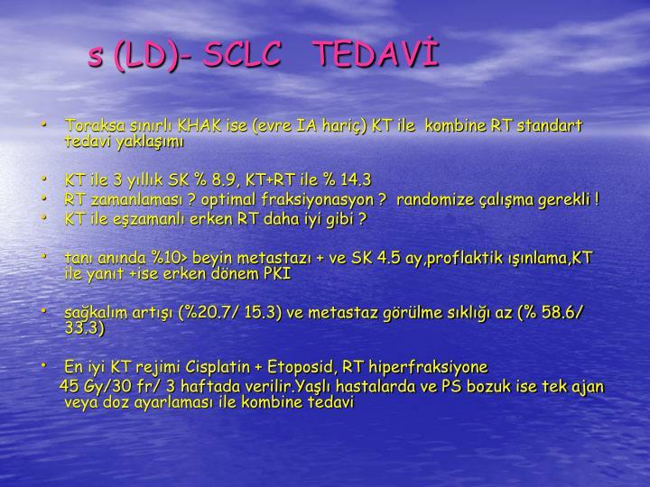 s (LD)- SCLC   TEDAV