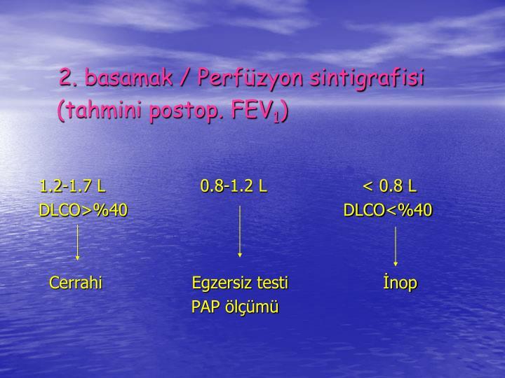 2. basamak / Perfzyon sintigrafisi