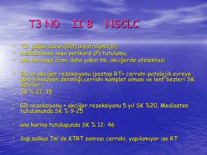 T3 N0    II B    NSCLC