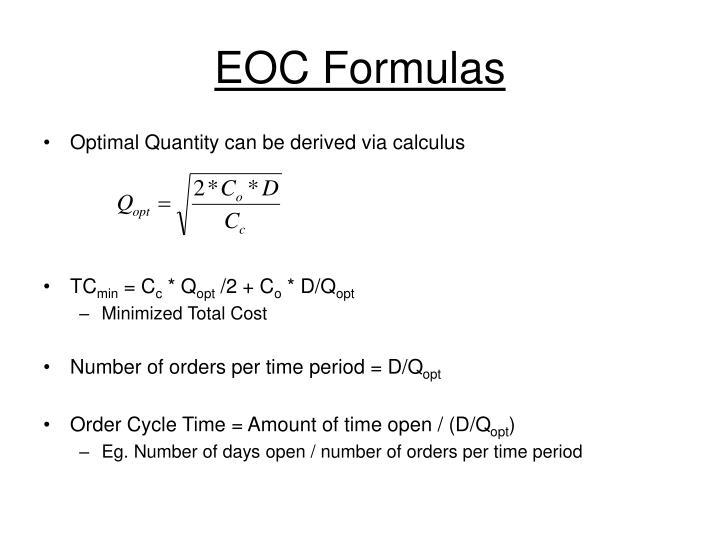 EOC Formulas