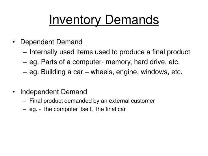Inventory Demands