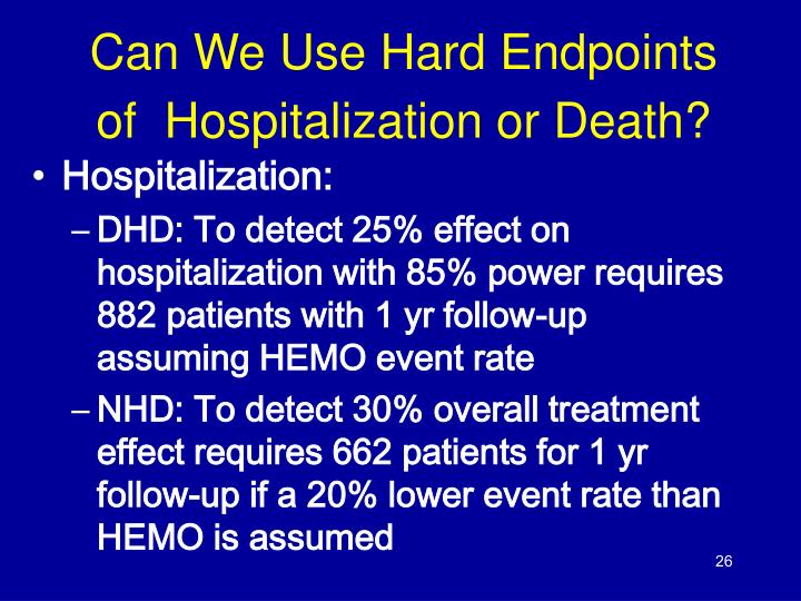 Can We Use Hard Endpoints of  Hospitalization or Death?