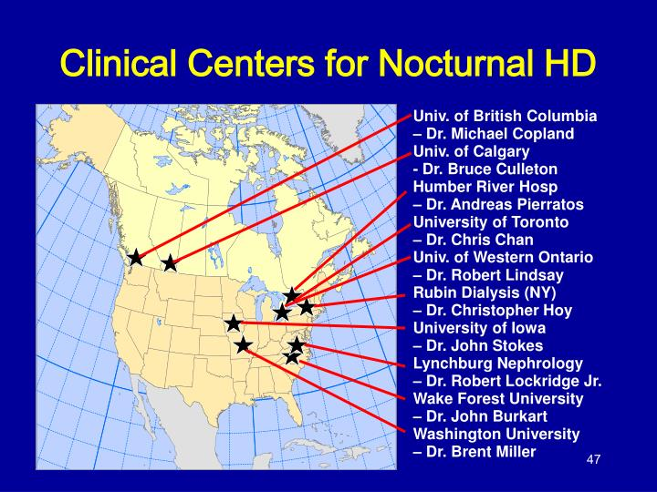 Clinical Centers for Nocturnal HD