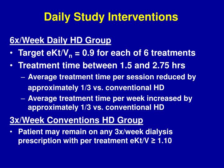 Daily Study Interventions