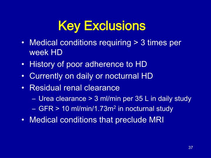 Key Exclusions