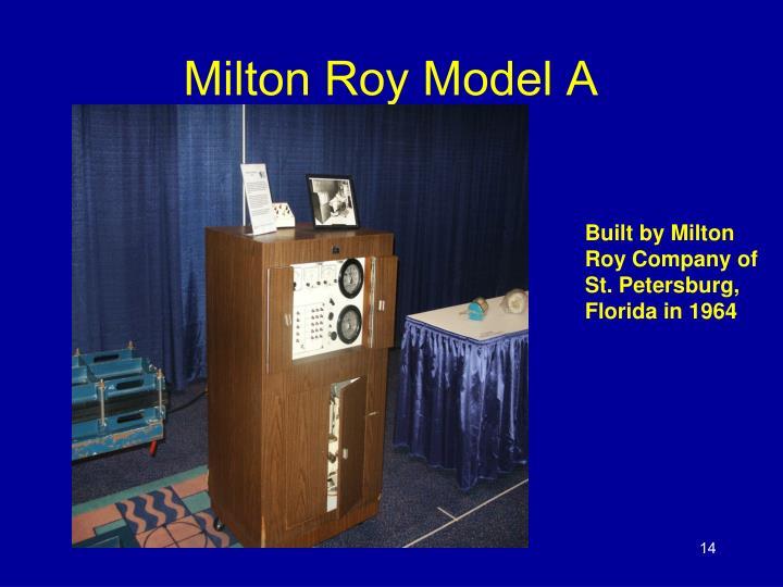 Milton Roy Model A